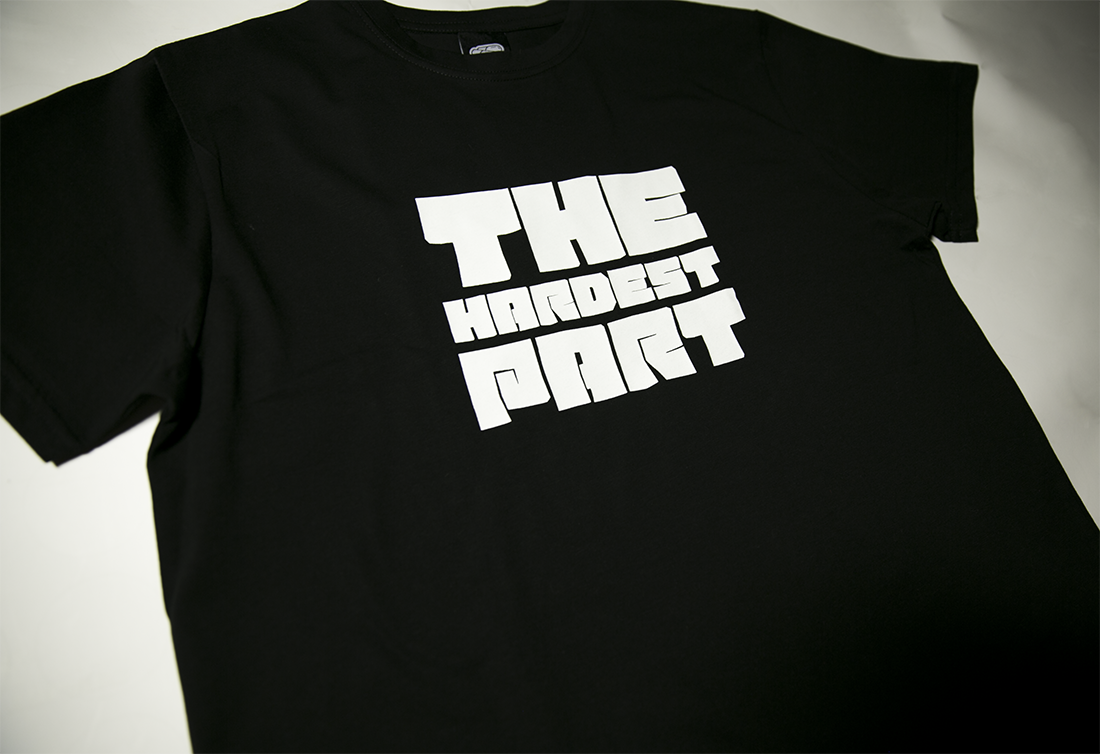 черная футболка THE HARDEST PART