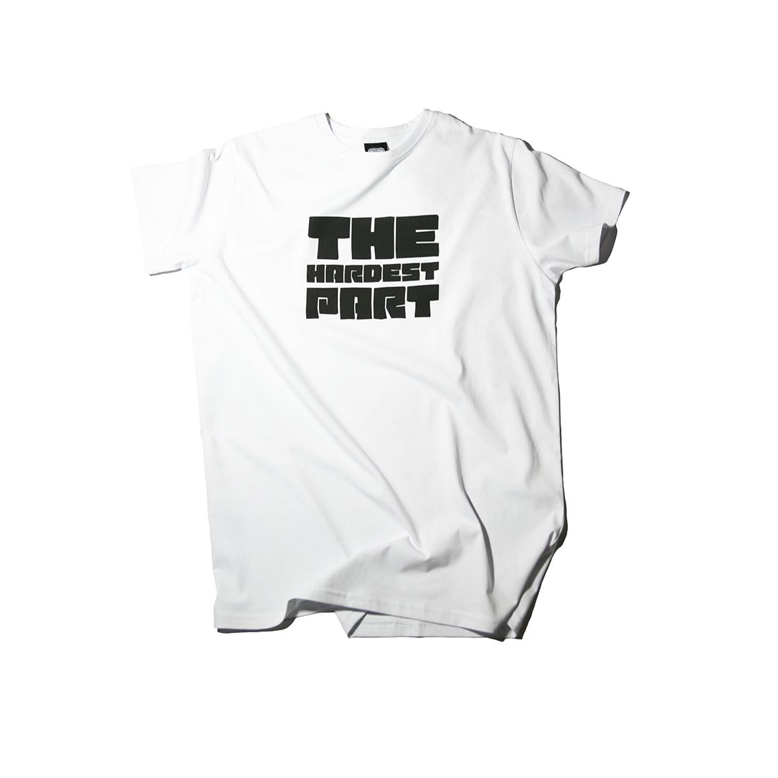 белая футболка THE HARDEST PART