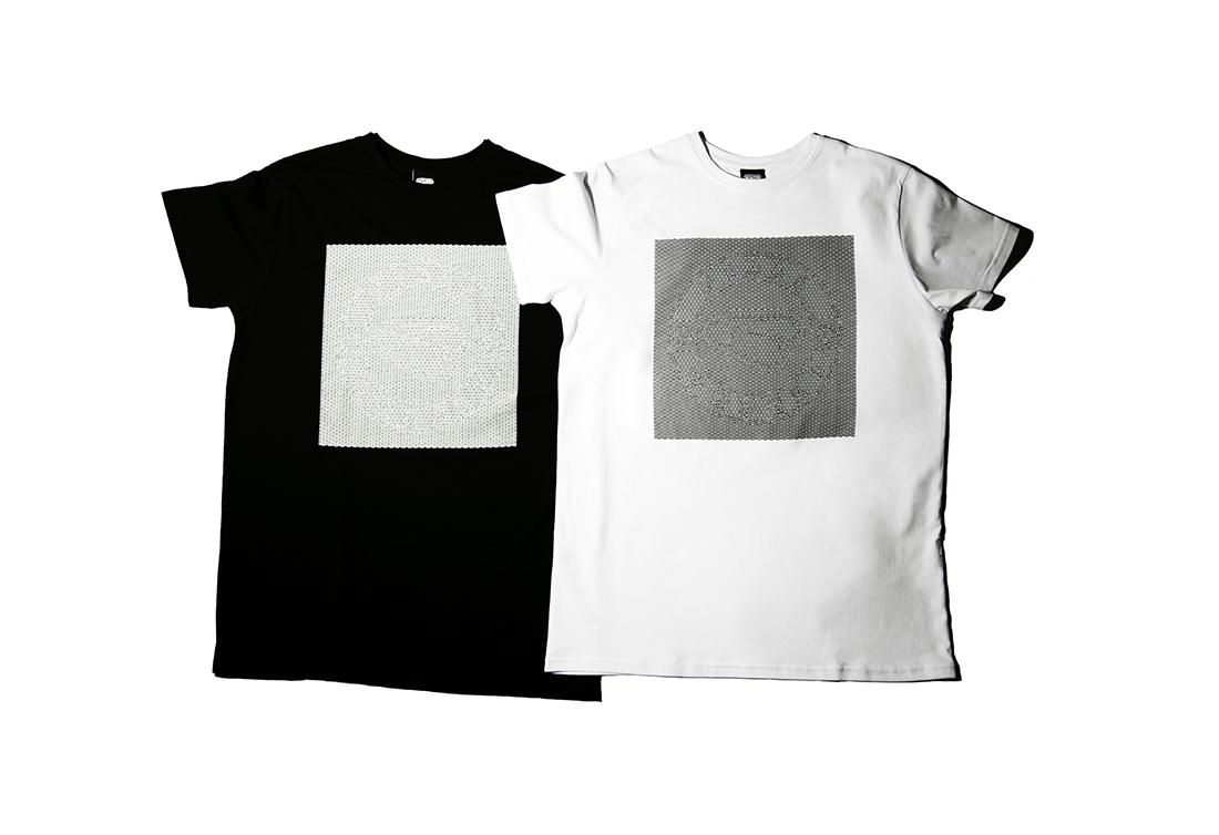 черная и белая футболка LS25