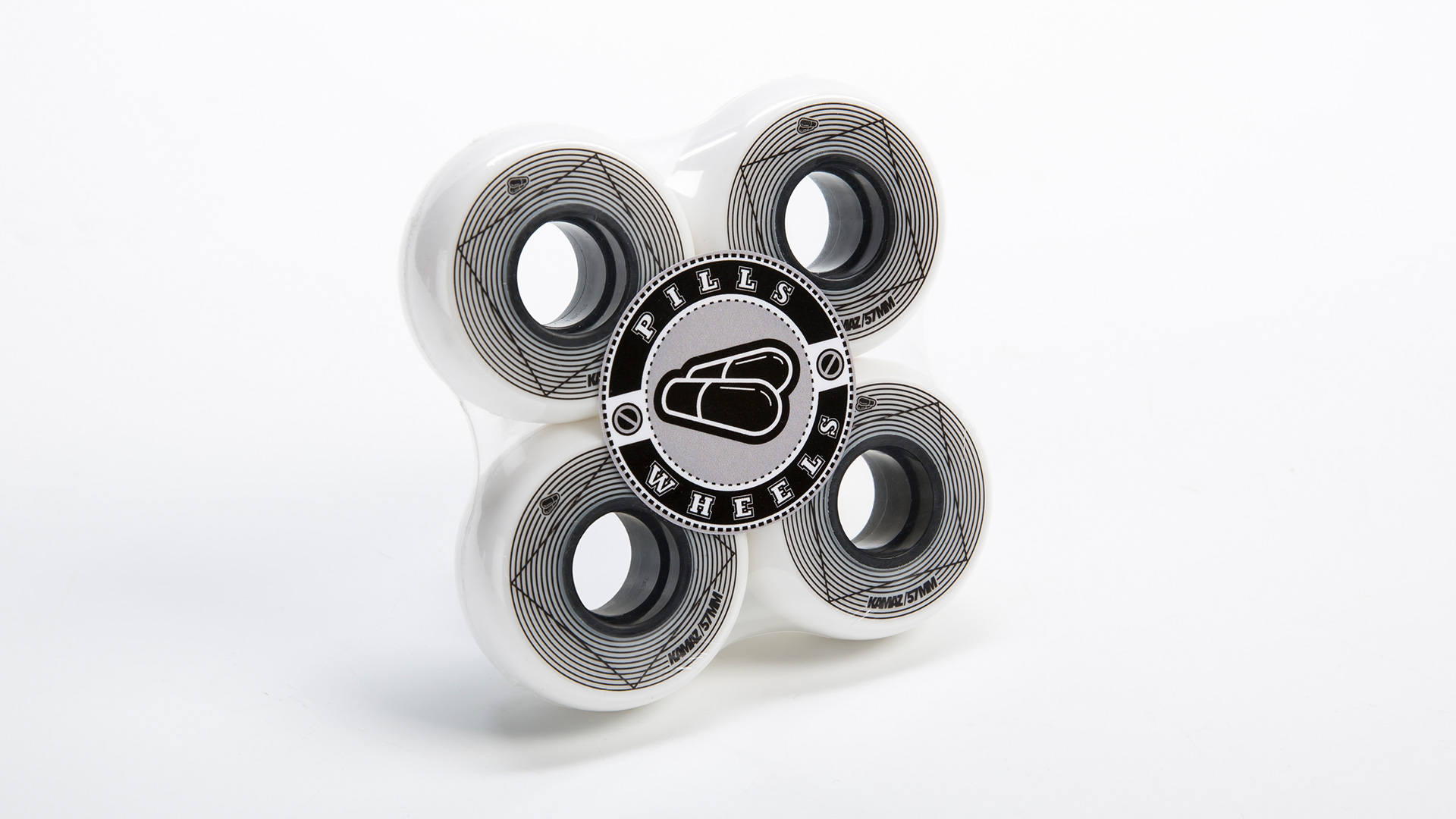 колеса для роликов Kamaz 57 мм 90А в упаковке