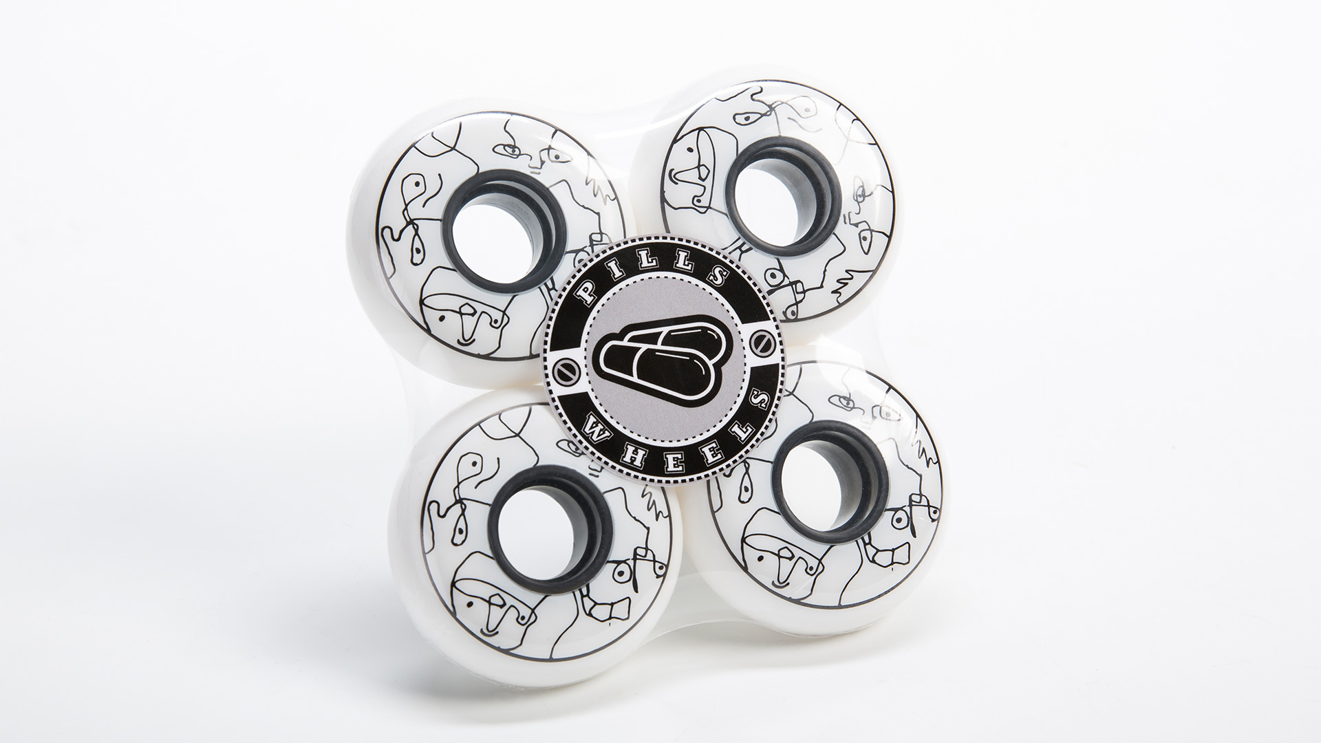 Колеса для роликов Trippy White 64mm в упаковке