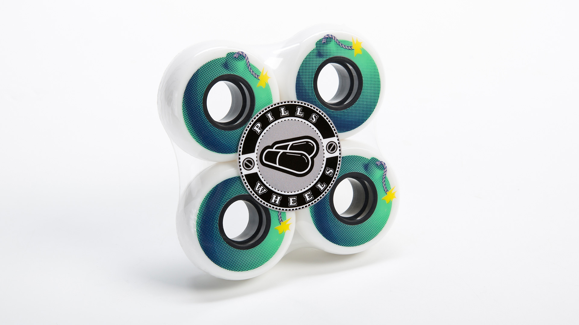 Bomb 59mm inline skating wheels in a package